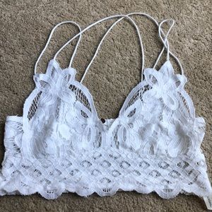 🌟free people Adella white lace Bralette small